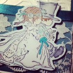 handmade wedding card detail