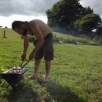 BBQ on the allotment